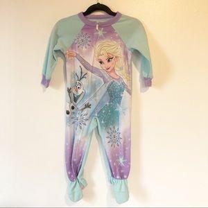 DISNEY Frozen Elsa & Olaf Footie Zip Up Pajamas